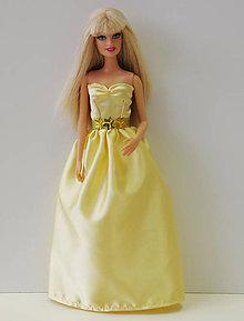 7ec30d596ad4 Hračky - Zlaté spoločenské šaty pre Barbie - 9695799