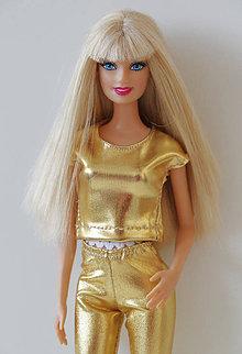 Hračky - Zlaté tričko pre Barbie - 9695833_
