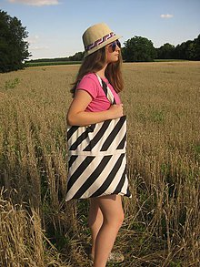 Nákupné tašky - Taška Black&White - 9694717_