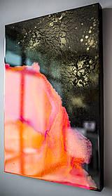 Obrazy - Abstraktný obraz - Oranžová a Čierna - predaný - 9695157_