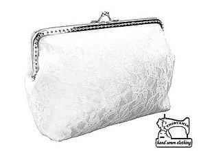 Kabelky - Svadobná kabelka, čipková kabelka pre nevestu bielá 487 - 9693308_