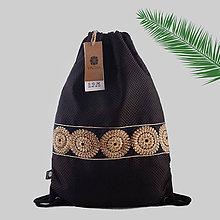 Batohy - Čierny batoh / ruksak s flitrovanou stuhou VINITHA 26 - 9695546_