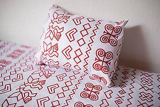 Úžitkový textil - bavlnené posteľné obliečky - čičmanský vzor - 9693957_