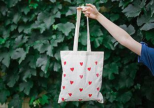 Nákupné tašky - plátenka HEARTsTOUCHING - 9694718_