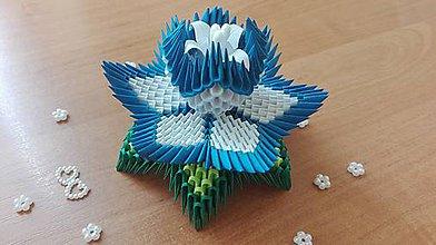 Dekorácie - Lekno - malé (Modrá) - 9693682_