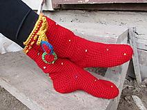 Obuv - červená čiapočka č.39-41 - 9694959_