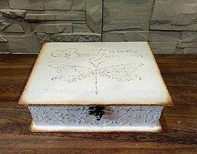 Krabičky - Šperkovnica  v bielom II. - 9693607_