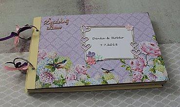 Papiernictvo - fialový sen_ svadobný album - 9696963_