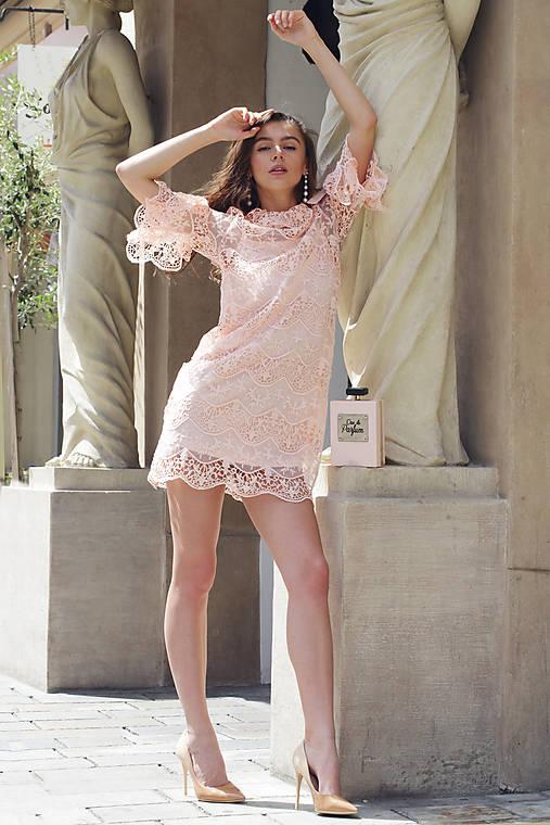 Šaty ružová čipka   ceccilia - SAShE.sk - Handmade Šaty a6df2a963cc