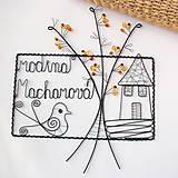 Tabuľky - tabuľka na dvere -domček  (v jesenných farbách) - 9698364_