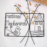 Tabuľky - tabuľka na dvere -domček  (v jesenných farbách) - 9698365_