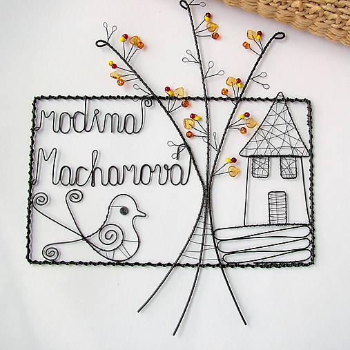 tabuľka na dvere -domček  (v jesenných farbách)