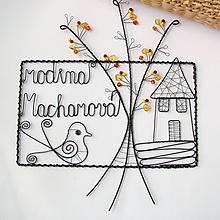 Tabuľky - tabuľka na dvere -domček  (v jesenných farbách) - 9698366_