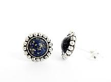 Náušnice - 925 Strieborné náušnice s lapisom lazuli - 9698081_