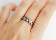Prstene - 925 sada strieborných prsteňov Milady - 9698102_