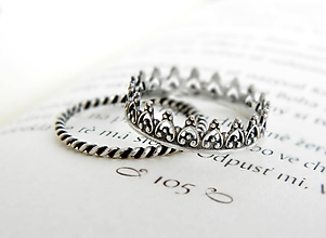 Prstene - 925 sada strieborných prsteňov Milady - 9698103_