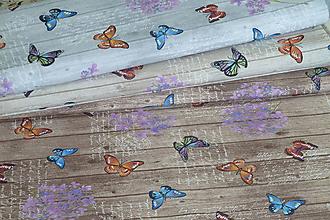 Textil - Látka Motýle na doskách - 9697221_