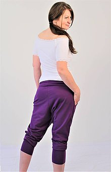 Tehotenské/Na dojčenie - Tehotenské - turecké - jóga kraťasy, výber farieb, veľ L - XXL - 9696029_