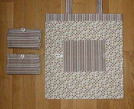Nákupné tašky - Taška nákupná skladacia s vreckom  - štyri varianty (1 bodky) - 9696419_