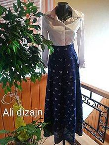 Sukne - Dlhá folková sukňa - 9697158_