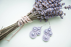 Sivé náušnice - soutache earring