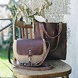 Veľké tašky - Kožená kabelka Sue (big bag Crazy Horse) - 9697142_