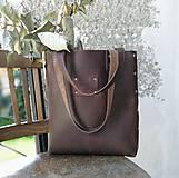 Veľké tašky - Kožená kabelka Sue (big bag Crazy Horse) - 9697143_