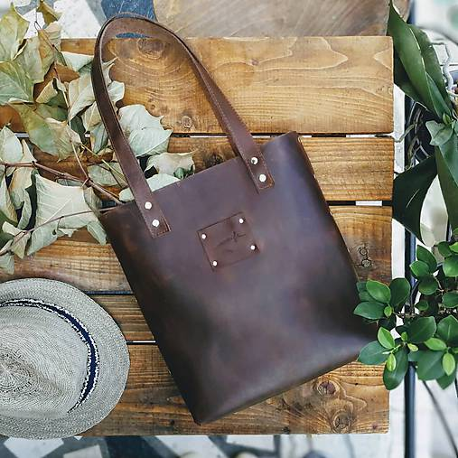 Kožená kabelka Sue (big bag Crazy Horse)