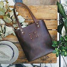 Veľké tašky - Kožená kabelka Sue (big bag Crazy Horse) - 9697144_