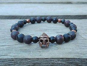 Šperky - Náramok bojovník - jaspis, achát, ónyx - 9697213_