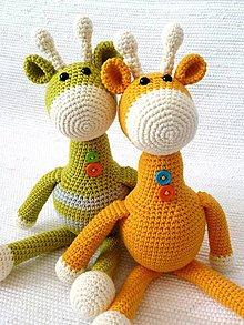 Hračky - Háčkovaná žirafa ŽiŽi - 9697358_