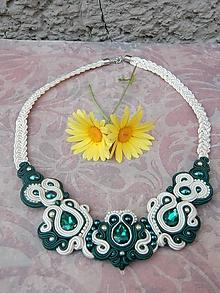 Náhrdelníky - Červeno-biely náhrdelník Štefi - 9698398_