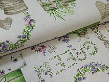 Textil - Látka režná záhrada - 9696989_