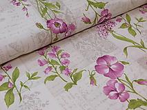 Textil - Látka jarné kvety - 9697000_