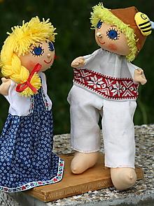 Hračky - Maňuška. Bábiky - maňušky Katky a pastierika Ferka Ľudovo a po slovensky. - 9696862_