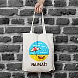 Nákupné tašky - Na pláž! (bavlnená taška) - 9698051_