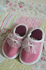 Topánočky - Papučky pre dievčatko-ružová - 9697498_