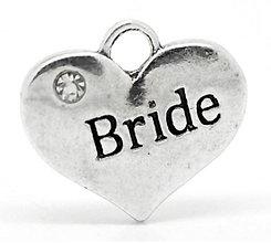 Komponenty - Prívesok BRIDE 1,6 x 1,4 cm - 9698281_