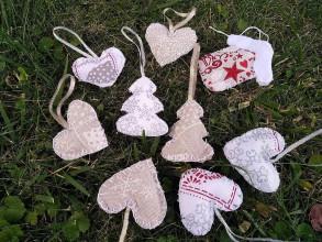 Dekorácie - Sada vianočných ozdôb - 9696875_