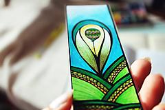 Papiernictvo - Balónik v údolí - zelená záložka - 9696324_