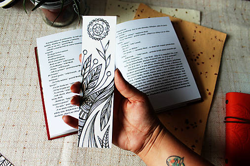 Záložka do knihy - Zakvitnutá