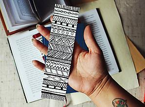 Papiernictvo - Záložka do knihy - Ornamenty - 9696436_