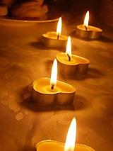 Svietidlá a sviečky - Srdiečková čajová sviečka - 9696153_