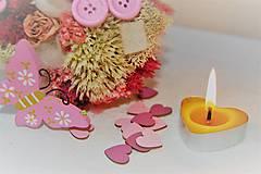 Svietidlá a sviečky - Srdiečková čajová sviečka - 9696156_