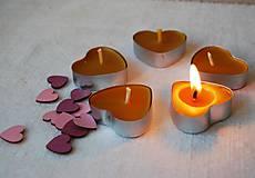Svietidlá a sviečky - Srdiečková čajová sviečka - 9696157_