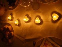 Svietidlá a sviečky - Srdiečková čajová sviečka - 9696160_