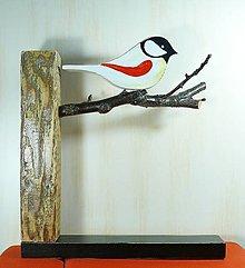 Dekorácie - Vták - 9697833_