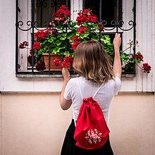 Batohy - Ručne maľovaný ruksačik - 9696740_