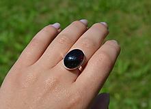 - Granát strieborný prsteň - 9697099_