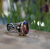 Prstene - Strieborný fantasy prsteň s ametystom - 9696691_